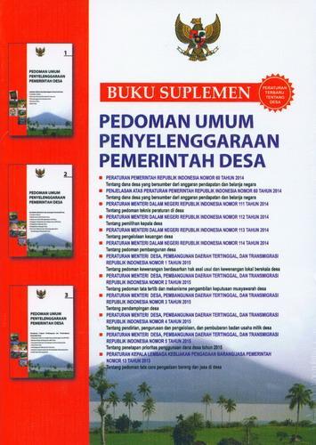 Cover Buku Buku Suplemen Pedoman Umum Penyelenggaraan Pemerintah Desa