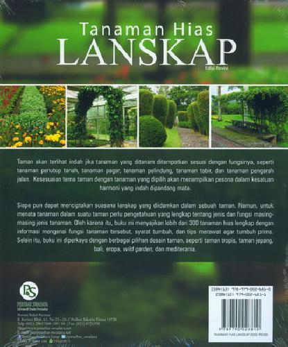 Cover Belakang Buku Tanaman Hias Lanskap Edisi Revisi