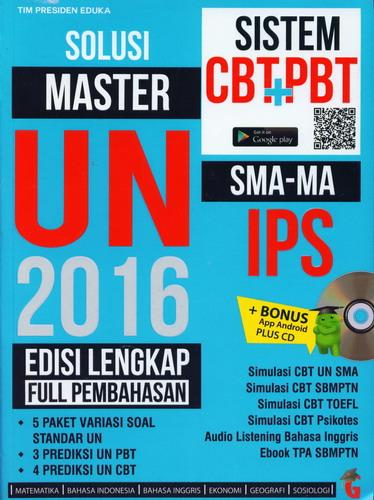 Cover Buku Solusi Master UN 2016 SMA-MA IPS Edisi Lengkap Full Pembahasan