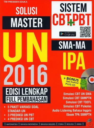 Cover Buku Solusi Master UN 2016 SMA-MA IPA Edisi Lengkap Full Pembahasan