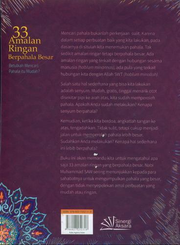 Cover Belakang Buku 33 Amalan Ringan Berpahala Besar