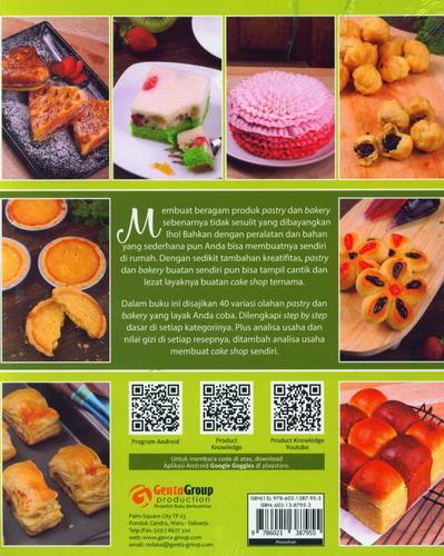 Cover Belakang Buku 40 Recipes 6 in 1 Homemade Pastry dan Bakery