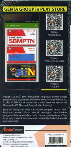 Cover Belakang Buku iPocket SOSHUM SMA Geografi Sosiologi