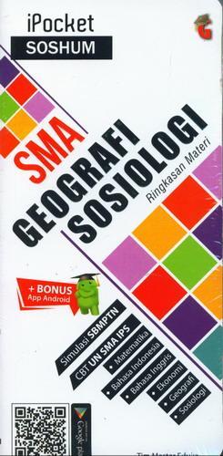 Cover Buku iPocket SOSHUM SMA Geografi Sosiologi