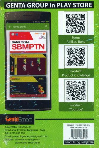 Cover Belakang Buku Ringkasan Materi Tetralogi SOSHUM SMA Geografi Matematika