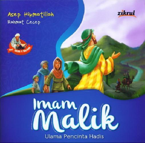 Cover Buku Imam Malik Ulama Pencinta Hadis (full color)