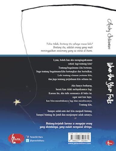 Cover Belakang Buku When The Star Falls