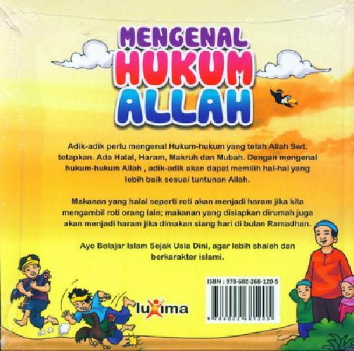 Cover Belakang Buku Seri Belajar Islam Sejak Usia Dini 15 : Mengenal Hukum ALLAH