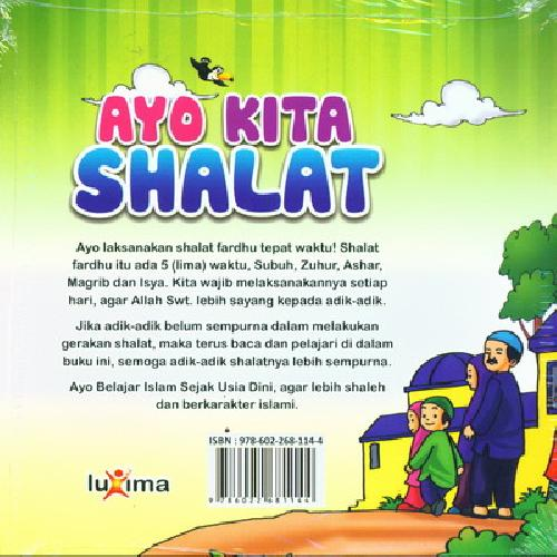 Cover Belakang Buku Seri Belajar Islam Sejak Usia Dini 7 : Ayo Kita Shalat
