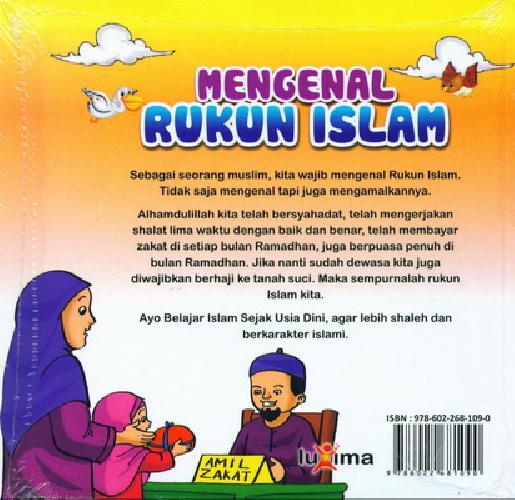 Cover Belakang Buku Seri Belajar Islam Sejak Usia Dini 4 : Mengenal Rukun Islam