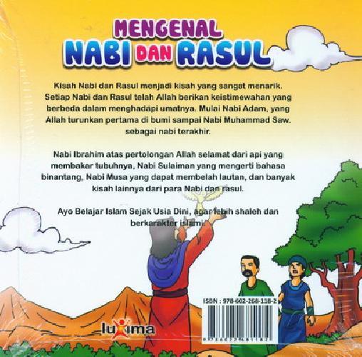 Cover Belakang Buku Seri Belajar Islam Sejak Usia Dini 2 : Mengenal Nabi dan Rasul ( RETUR )