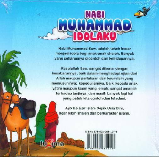 Cover Belakang Buku Seri Belajar Islam Sejak Usia Dini 1 : Nabi Muhammad Idolaku