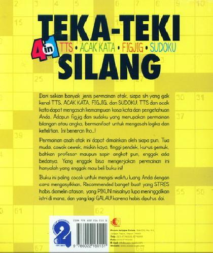 Cover Belakang Buku Teka-Teki Silang 4 in 1