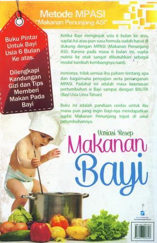 Cover Belakang Buku Variasi Resep Makanan Bayi