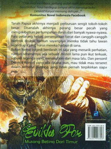 Cover Belakang Buku Detektif Konyol Guides Fox Musang Betina Dari Timur