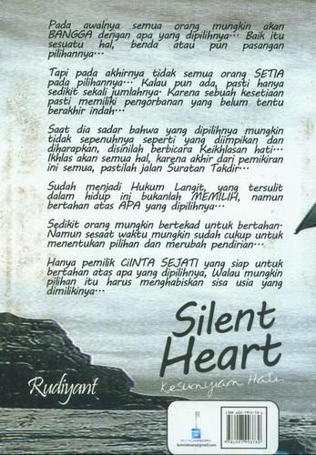 Cover Belakang Buku Silent Heart - Kesunyian Hati