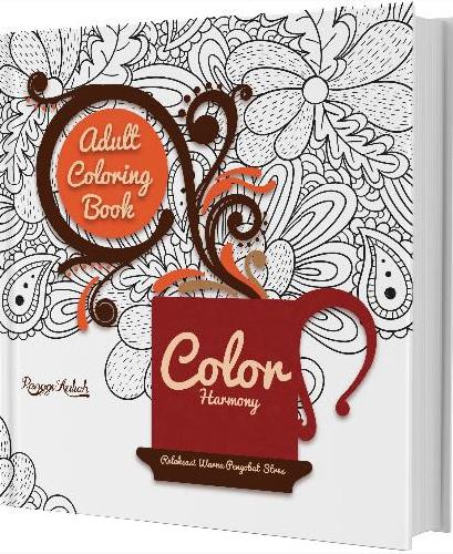 Cover Buku Adult Coloring Book : Color Harmony