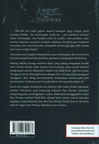 Cover Belakang Buku Ababil dan Tiga Kitab Iblis Sebuah Novel