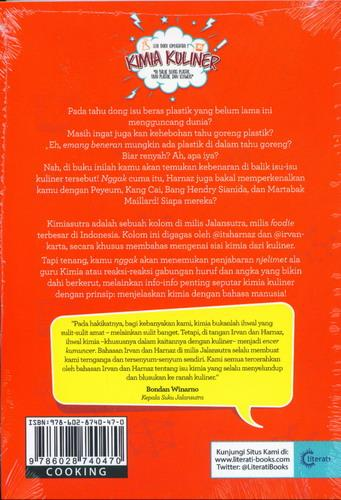 Cover Belakang Buku Seri Buku Kimiasutra 1 : Kimia Kuliner