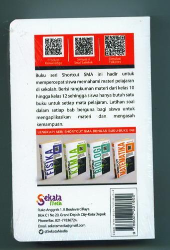 Cover Belakang Buku Shortcut Saintek SMA KELAS 10, 11, 12