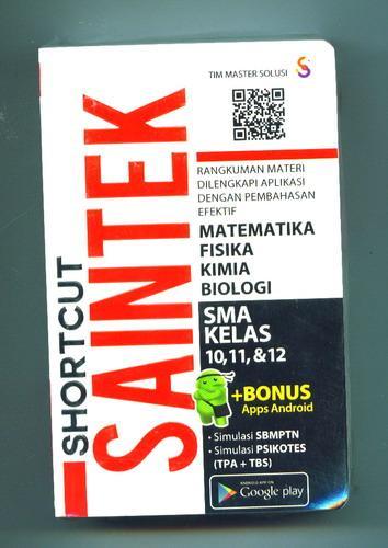 Cover Buku Shortcut Saintek SMA KELAS 10, 11, 12