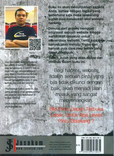 Cover Belakang Buku Hacking Aplikasi Web : Uncensored