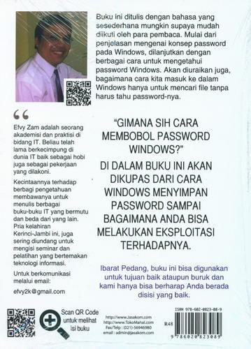 Cover Belakang Buku Windows Password Secret