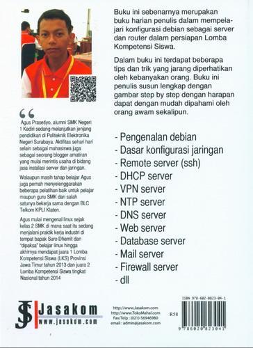 Cover Belakang Buku Membangun Server dengan Debian 7