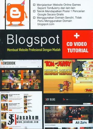 Cover Buku Blogspot Membuat Website Profesional Dengan Mudah (CD Video Tutorial)