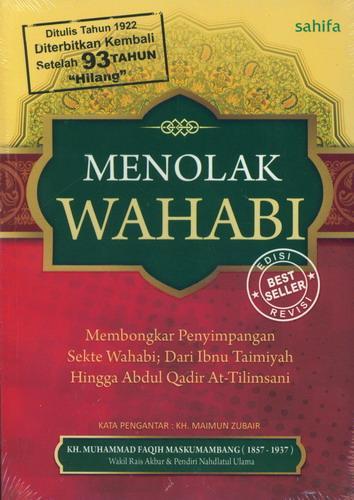 Cover Buku Menolak Wahabi