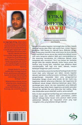 Cover Belakang Buku Etika dan Estetika Dakwah
