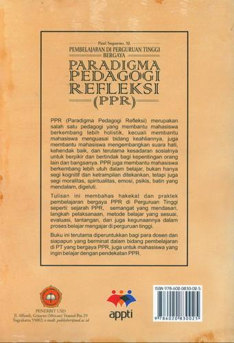 Cover Belakang Buku Paradigma Pedagogi Refleksi (PPP)