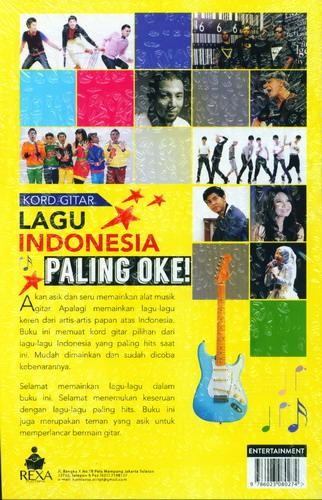 Cover Belakang Buku Kord Gitar Lagu Indonesia Paling Oke