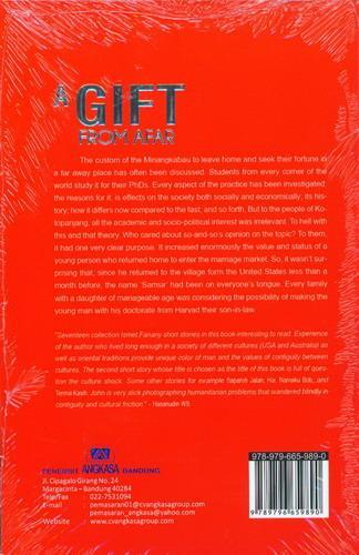 Cover Belakang Buku A Gift From Afar (versi bahasa Inggris)