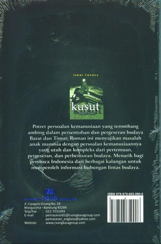 Cover Belakang Buku Kusut Sebuah Novel