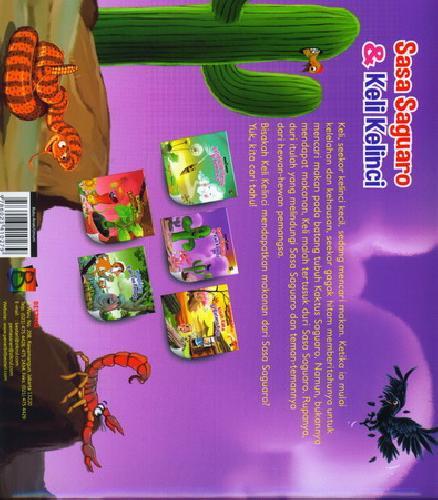 Cover Belakang Buku Sasa Saguaro dan Keli Kelinci