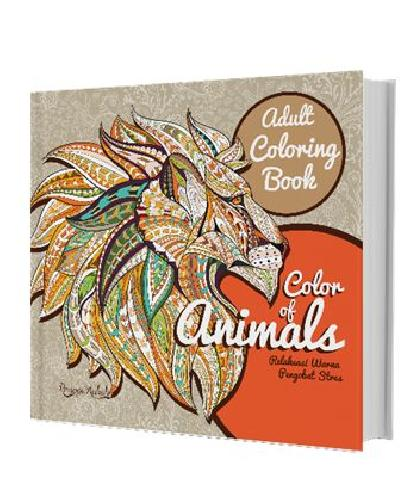 Cover Buku Adult Coloring Book : Color Of Animals