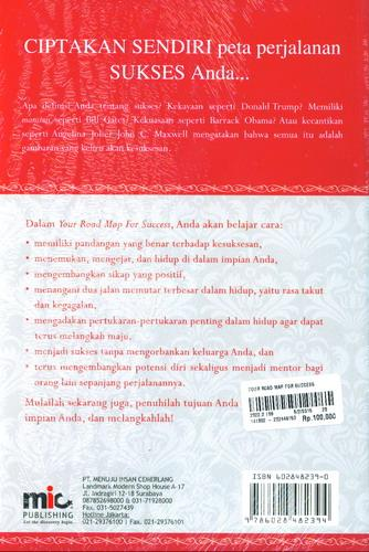 Cover Belakang Buku Your Road Map Success