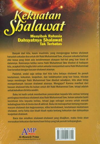Cover Belakang Buku Kekuatan Shalawat