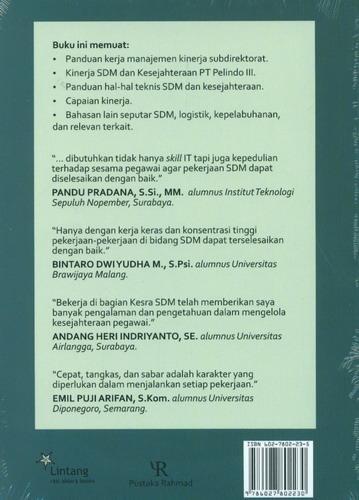 Cover Belakang Buku Human Capital Management PT Pelindo III