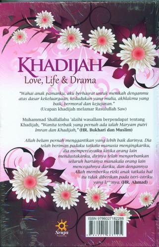 Cover Belakang Buku Khadijah Love, Life dan Drama (Hard Cover)