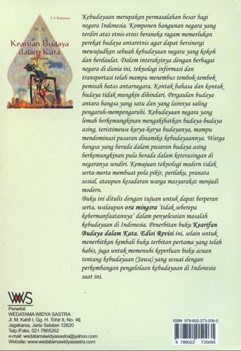Cover Belakang Buku Kearifan Budaya Dalam Kata Edisi Revisi