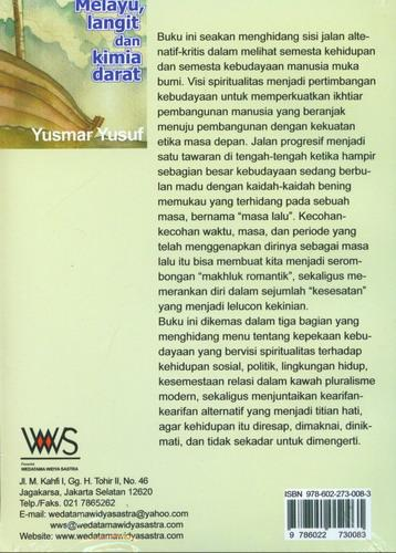 Cover Belakang Buku Melayu, Langit dan Kimia Darat