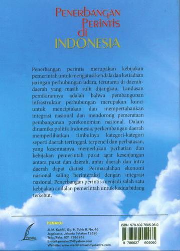 Cover Belakang Buku Penerbangan Perintis di Indonesia