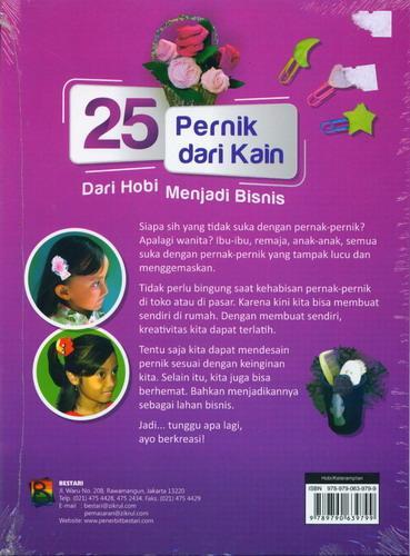 Cover Belakang Buku 25 Pernik Dari Kain - Dari Hobi Menjadi Bisnis