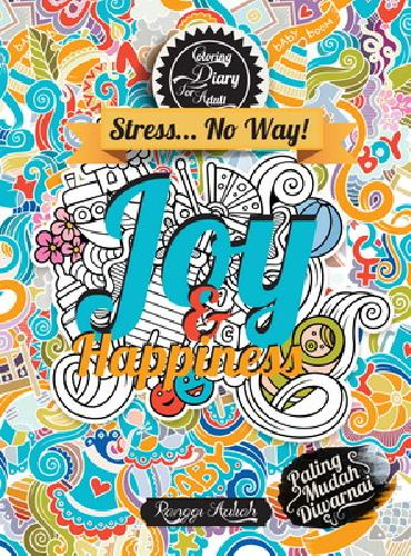 Cover Buku Coloring Diary For Adult : Joy & Happiness