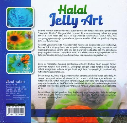 Cover Belakang Buku Halal Jelly Art (Plus DVD)