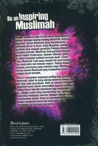 Cover Belakang Buku Be an Inspiring Muslimah