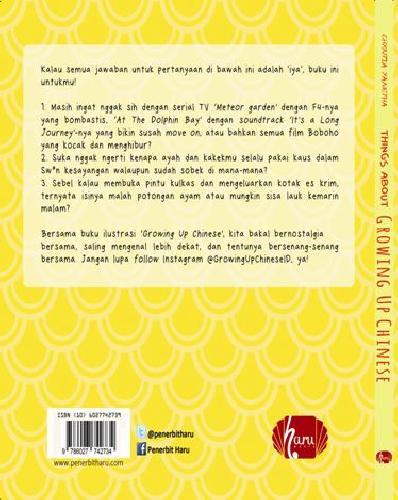 Cover Belakang Buku Things About Growing Up Chinese