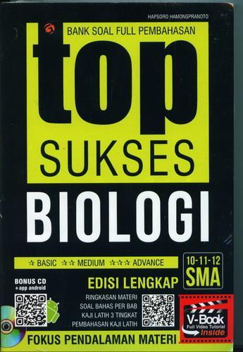 Cover Buku Bank Soal Full Pembahasan Top Sukses Biologi SMA 10-11-12